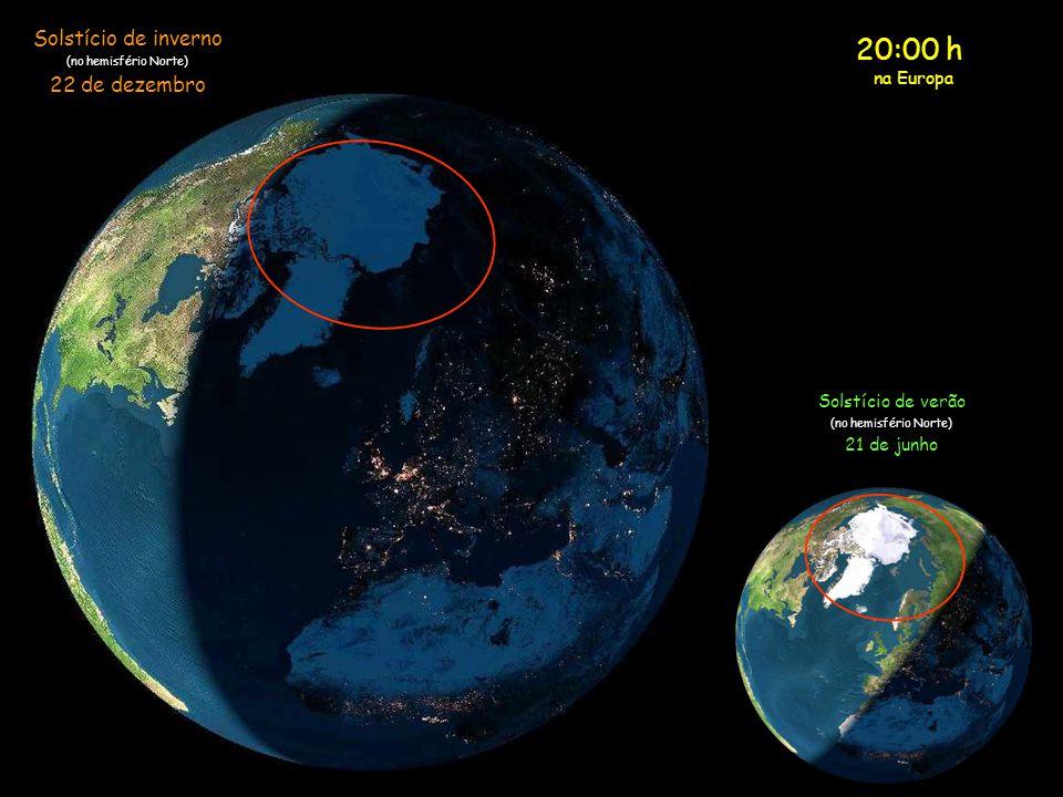 20:00 h Solstício de inverno 22 de dezembro na Europa