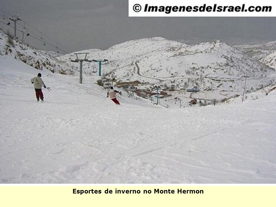 Esportes de inverno no Monte Hermon