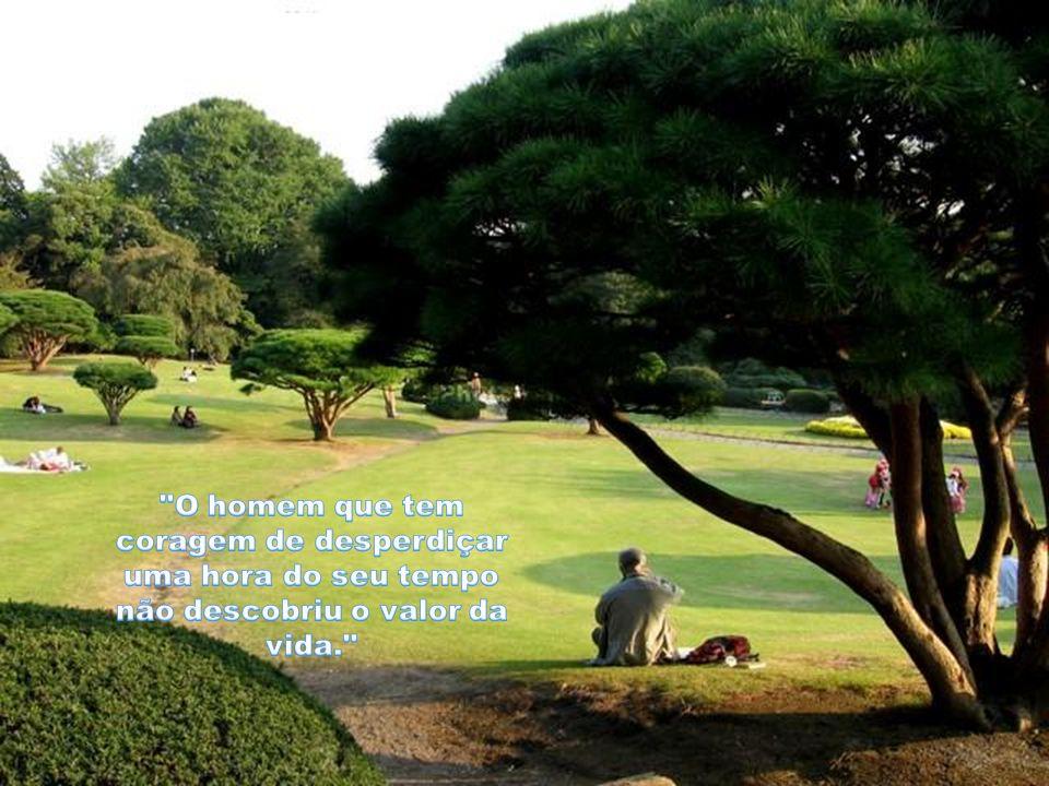 O homem que tem coragem de desperdiçar uma hora do seu tempo não descobriu o valor da vida.