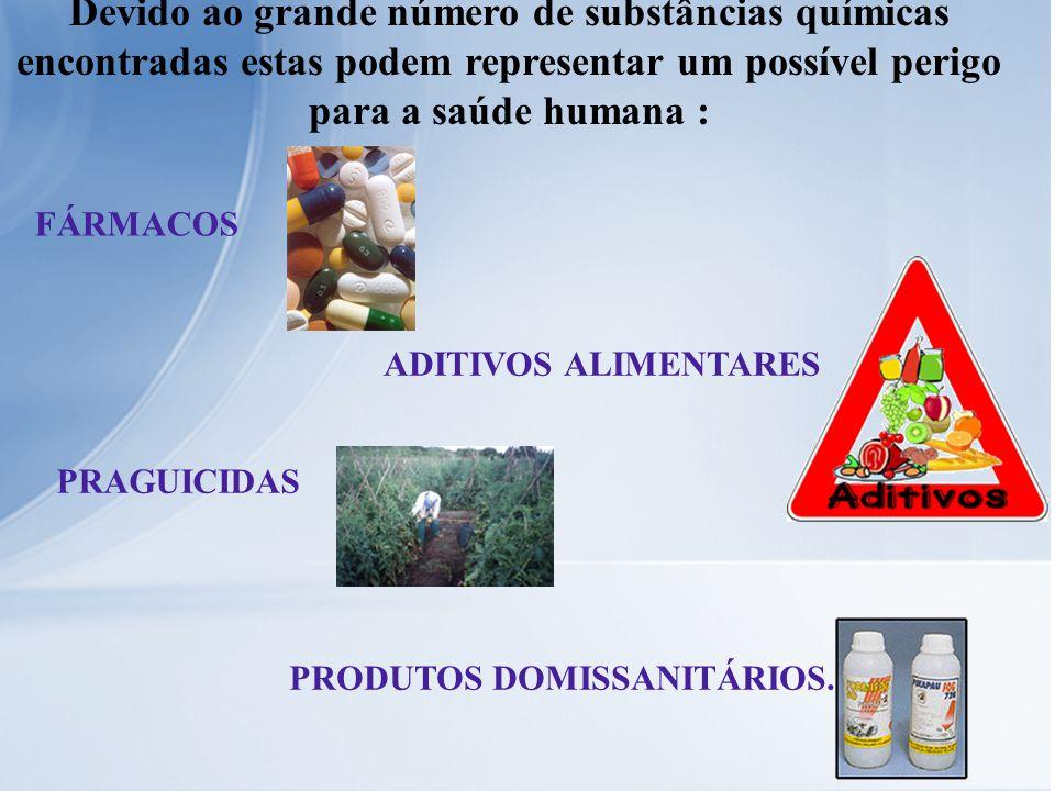 Devido ao grande número de substâncias químicas encontradas estas podem representar um possível perigo para a saúde humana :