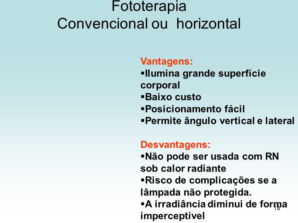 Fototerapia Convencional ou horizontal