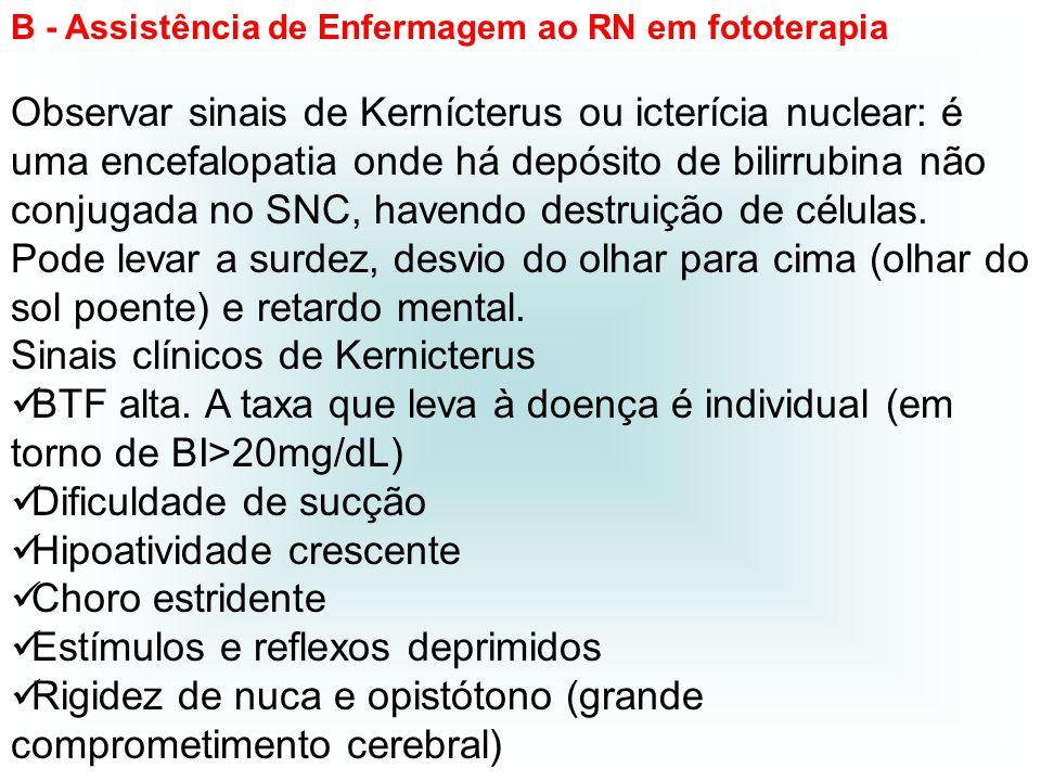 Sinais clínicos de Kernicterus