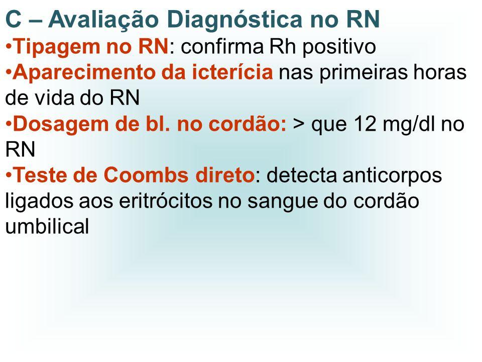 C – Avaliação Diagnóstica no RN