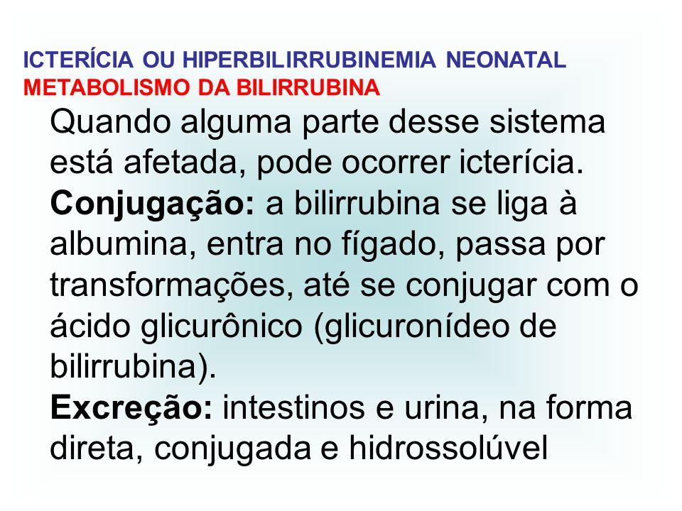 ICTERÍCIA OU HIPERBILIRRUBINEMIA NEONATAL