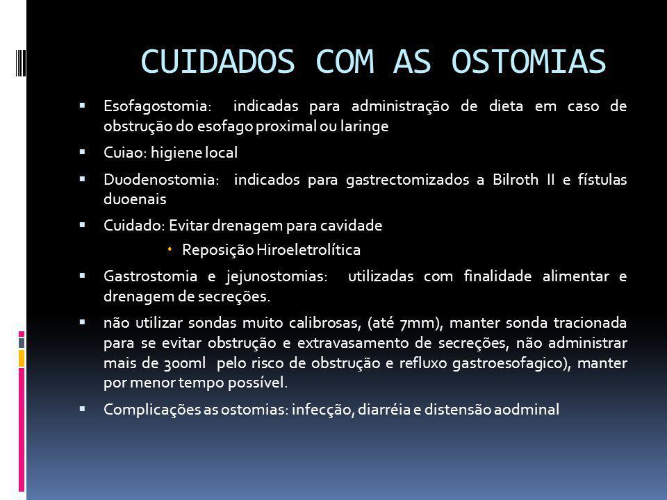 CUIDADOS COM AS OSTOMIAS