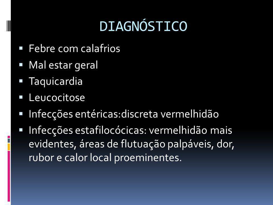 DIAGNÓSTICO Febre com calafrios Mal estar geral Taquicardia