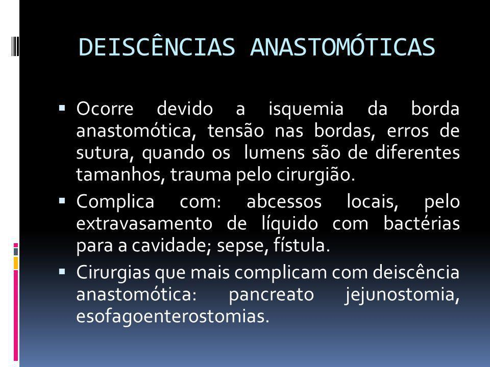 DEISCÊNCIAS ANASTOMÓTICAS
