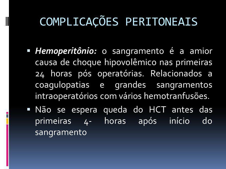 COMPLICAÇÕES PERITONEAIS