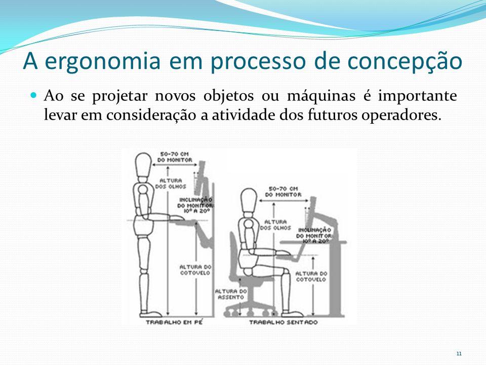 A ergonomia em processo de concepção