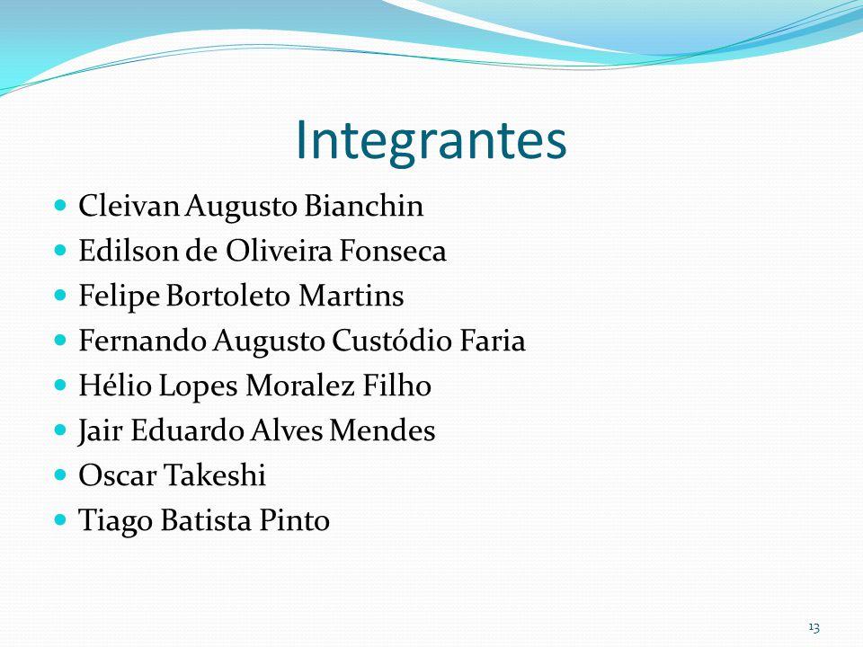 Integrantes Cleivan Augusto Bianchin Edilson de Oliveira Fonseca