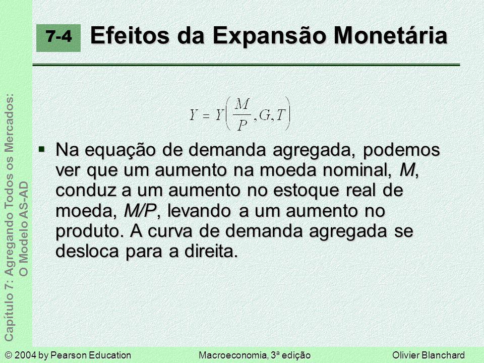 Efeitos da Expansão Monetária