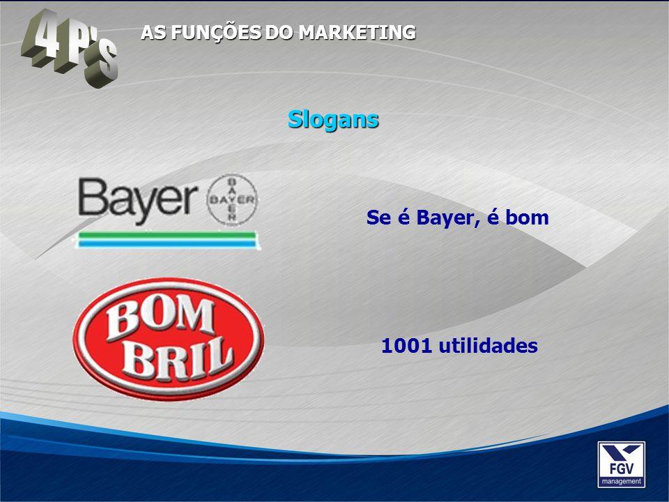 4 P s Slogans Se é Bayer, é bom 1001 utilidades