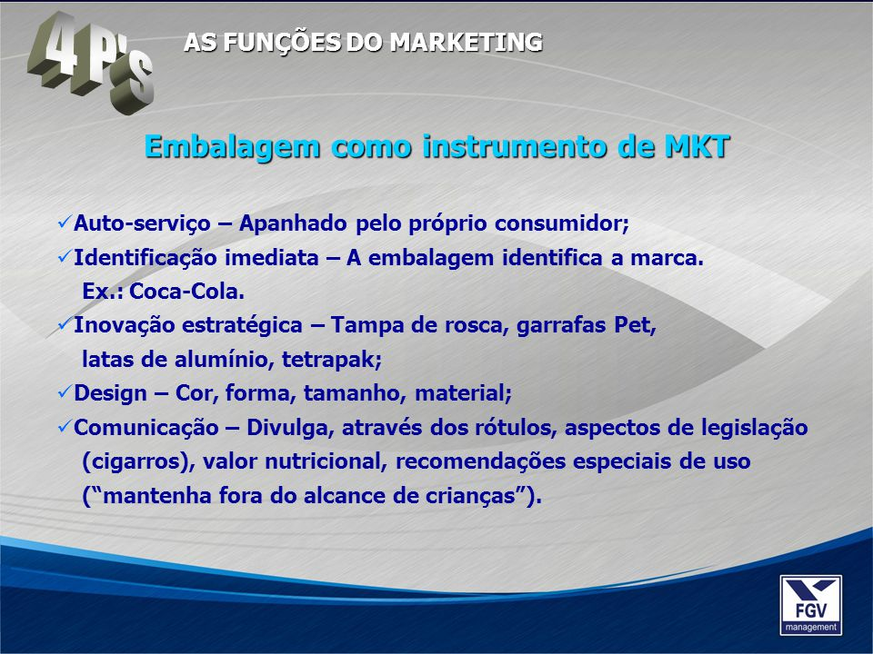Embalagem como instrumento de MKT