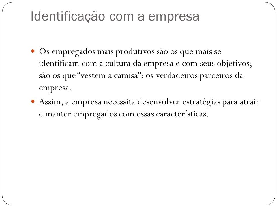 Identificação com a empresa