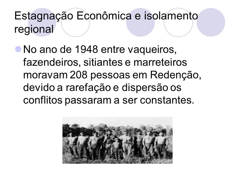 Estagnação Econômica e isolamento regional