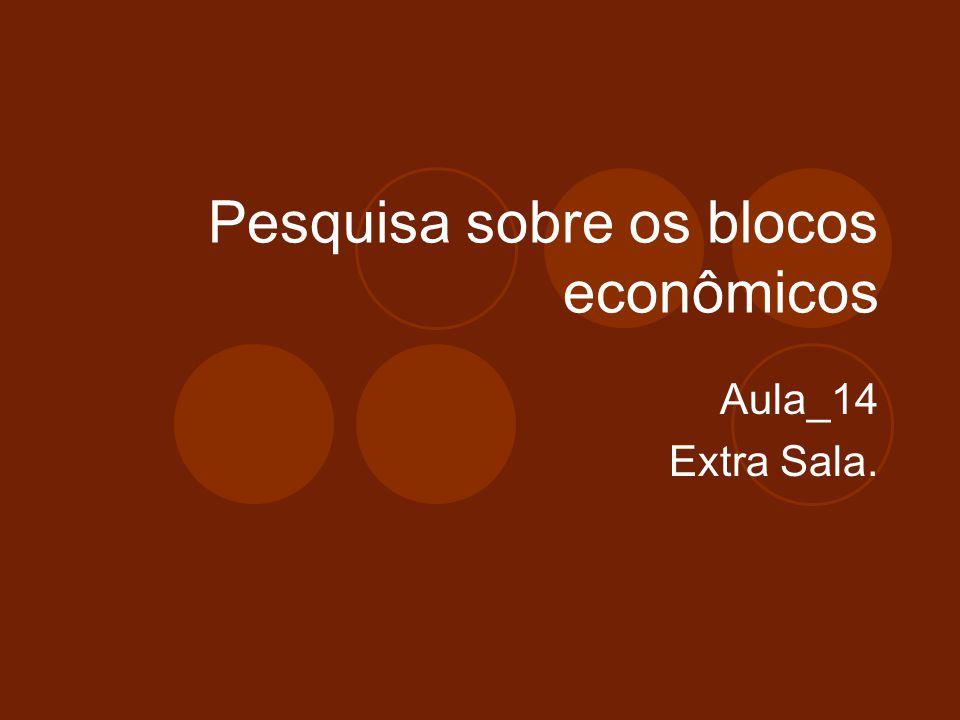 Pesquisa sobre os blocos econômicos