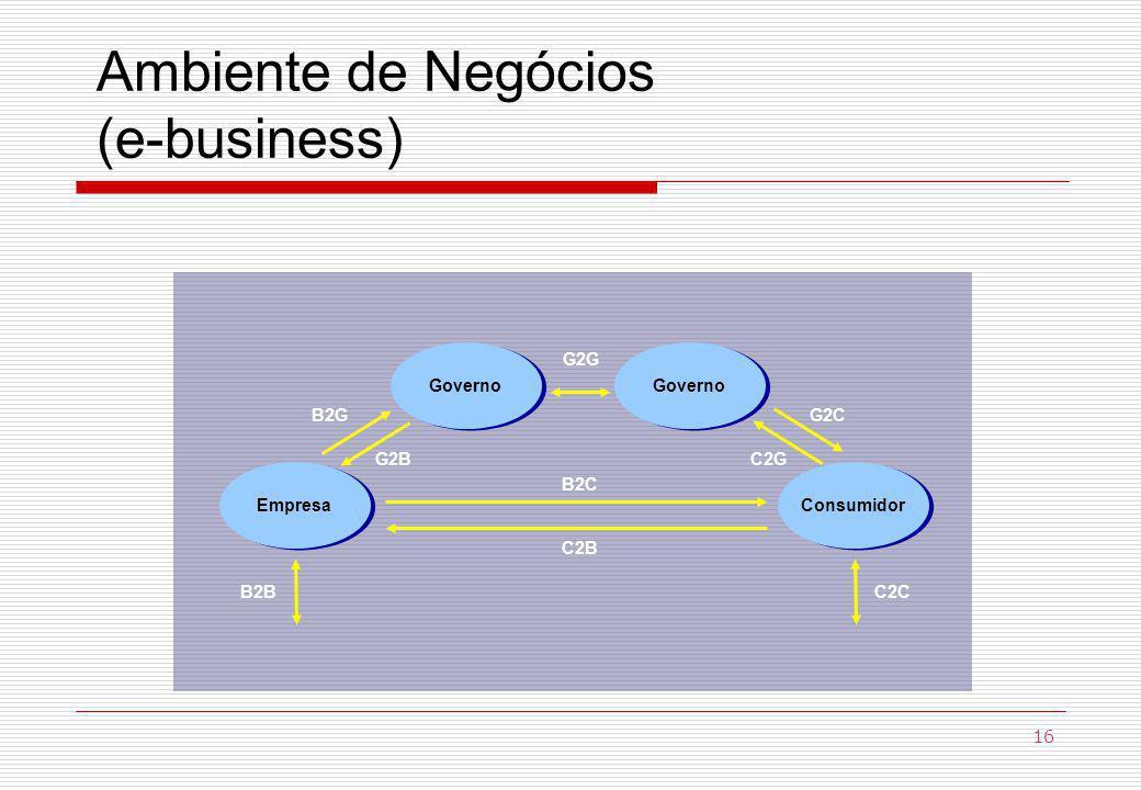 Ambiente de Negócios (e-business)