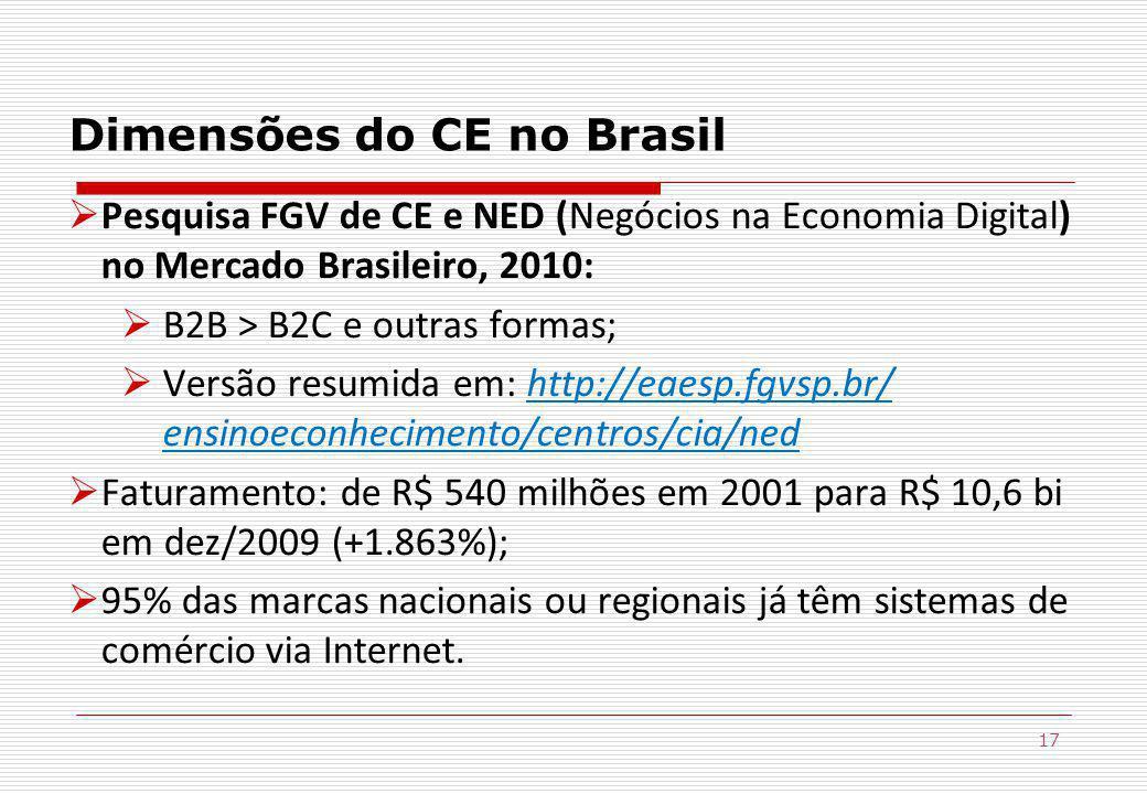 Dimensões do CE no Brasil
