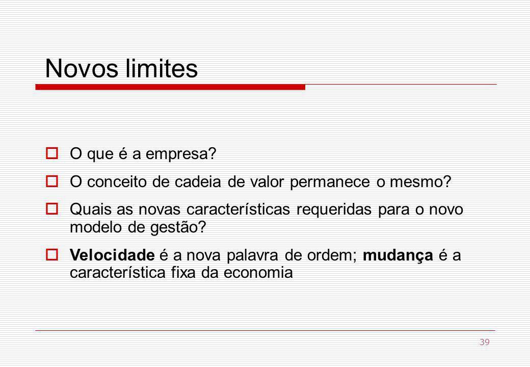 Novos limites O que é a empresa