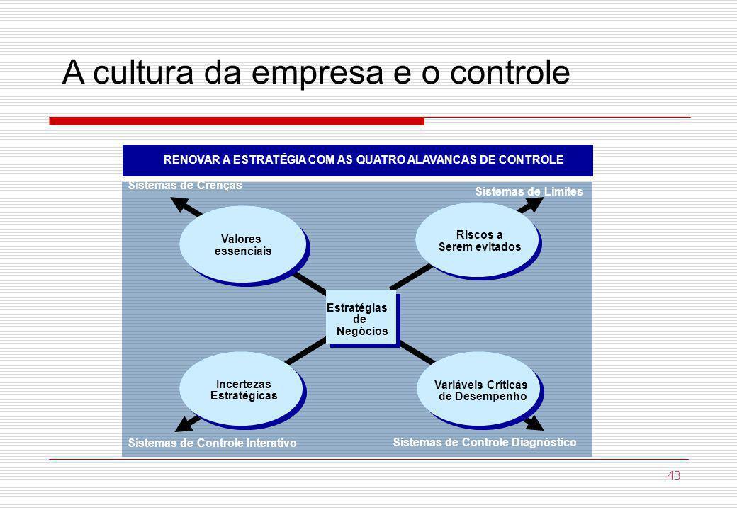 A cultura da empresa e o controle