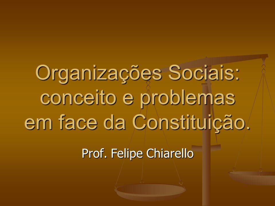 Organizações Sociais: conceito e problemas em face da Constituição.