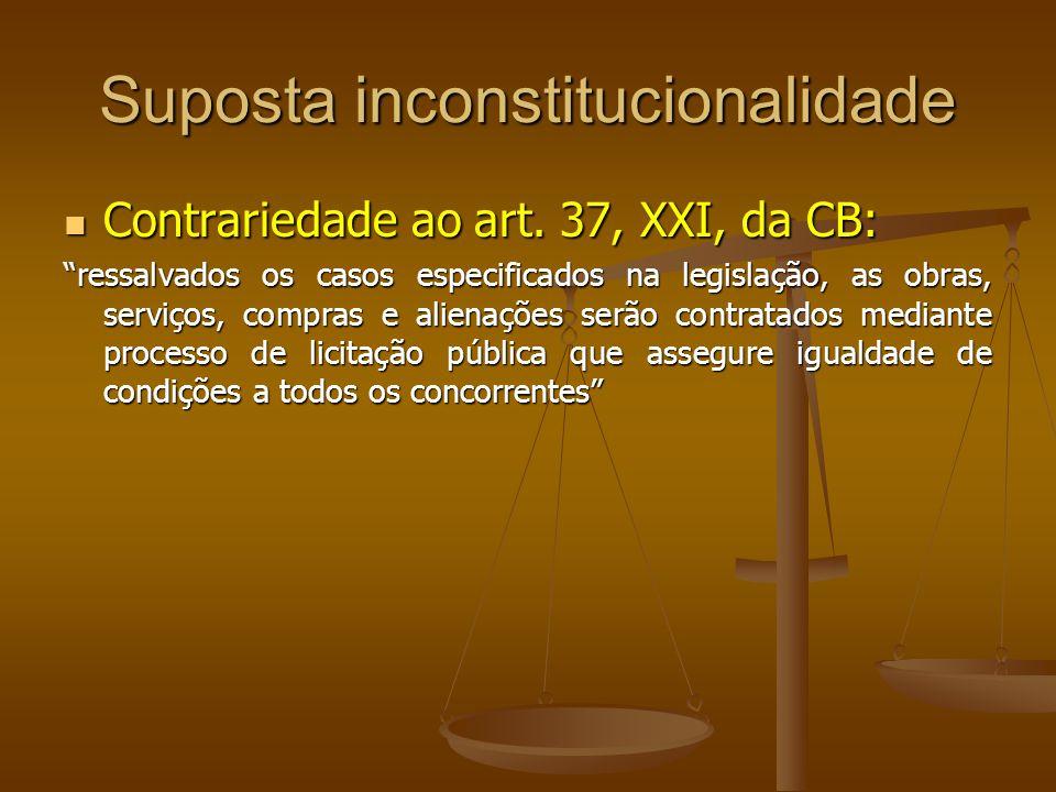 Suposta inconstitucionalidade