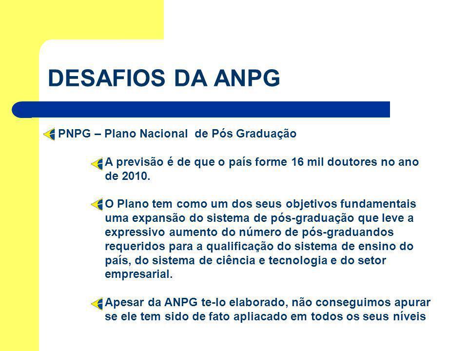DESAFIOS DA ANPG PNPG – Plano Nacional de Pós Graduação