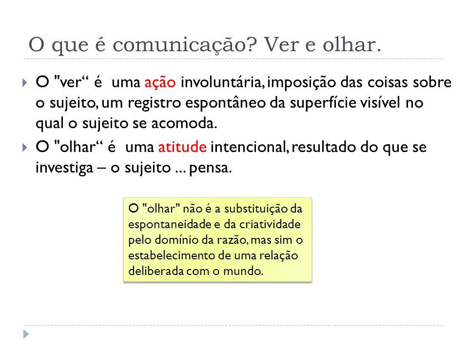 O que é comunicação Ver e olhar.