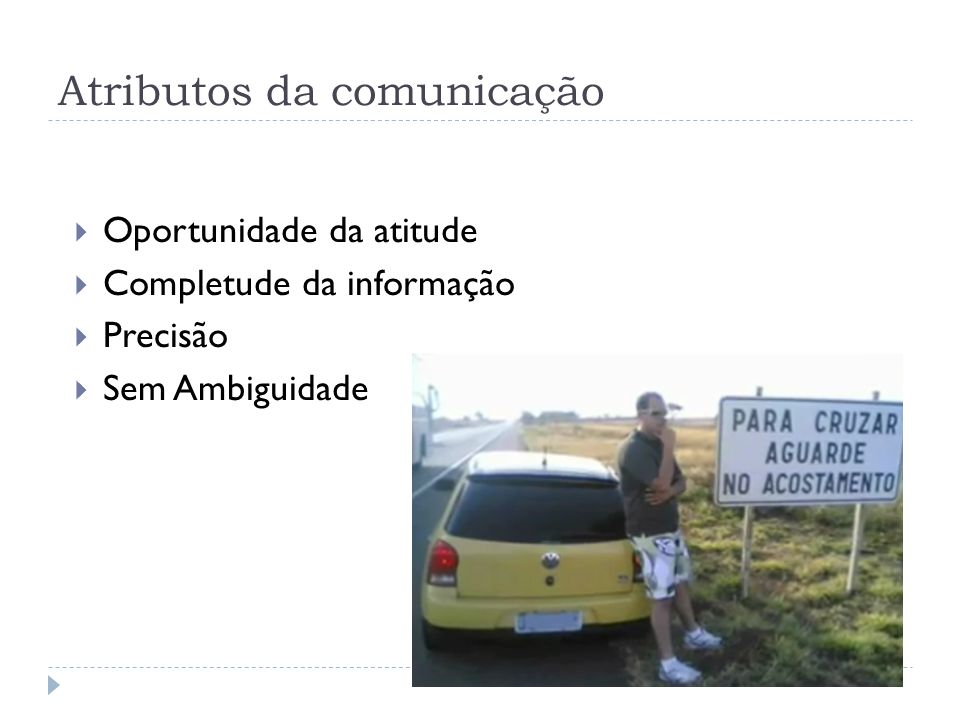 Atributos da comunicação