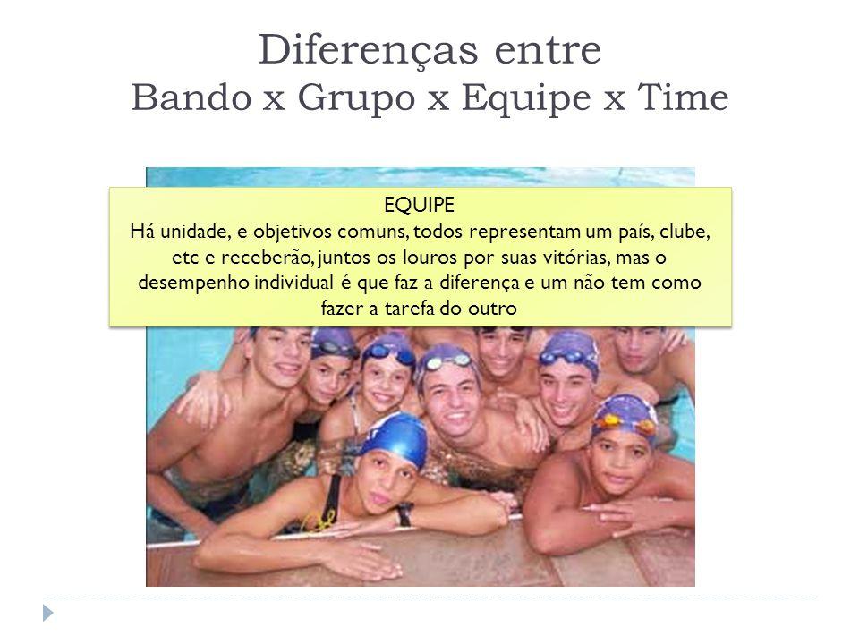 Diferenças entre Bando x Grupo x Equipe x Time