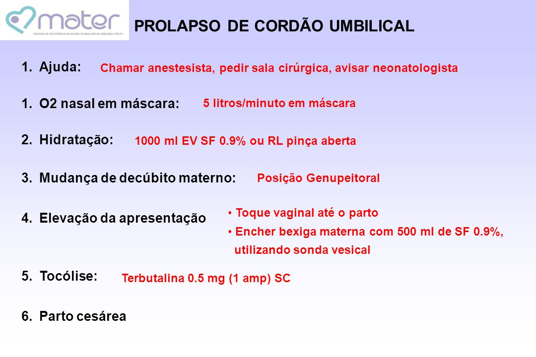 PROLAPSO DE CORDÃO UMBILICAL