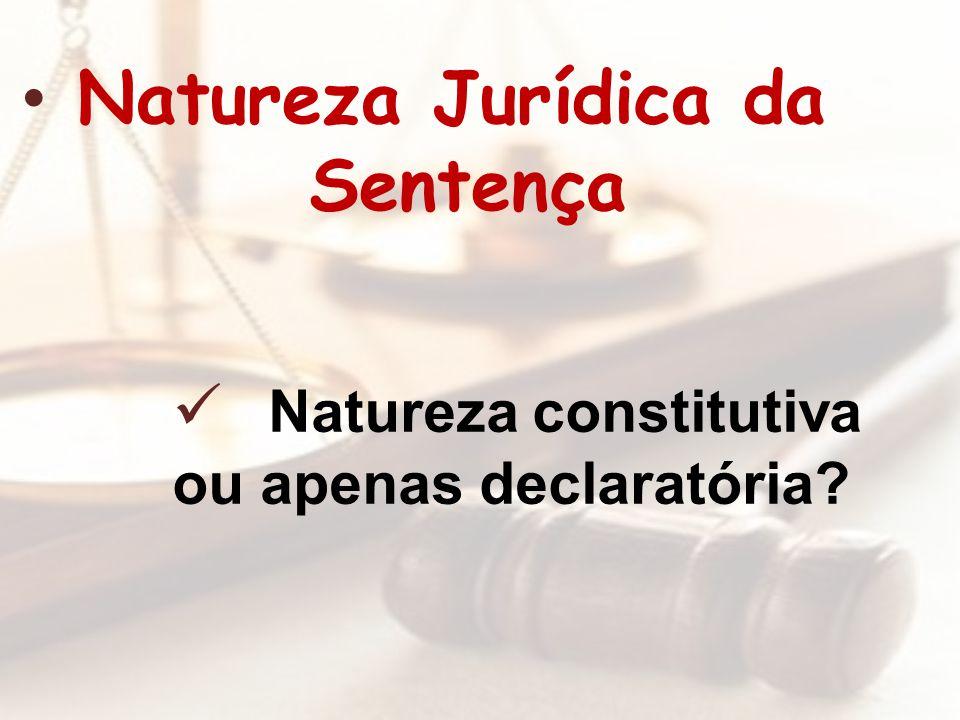 Natureza Jurídica da Sentença