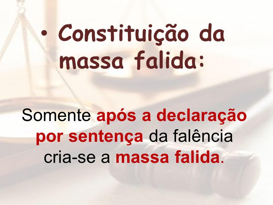 Constituição da massa falida: