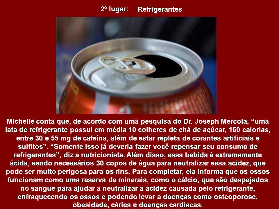 2º lugar: Refrigerantes.
