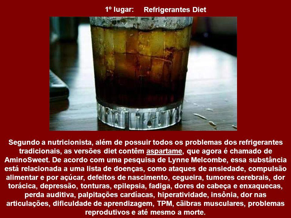 1º lugar: Refrigerantes Diet.