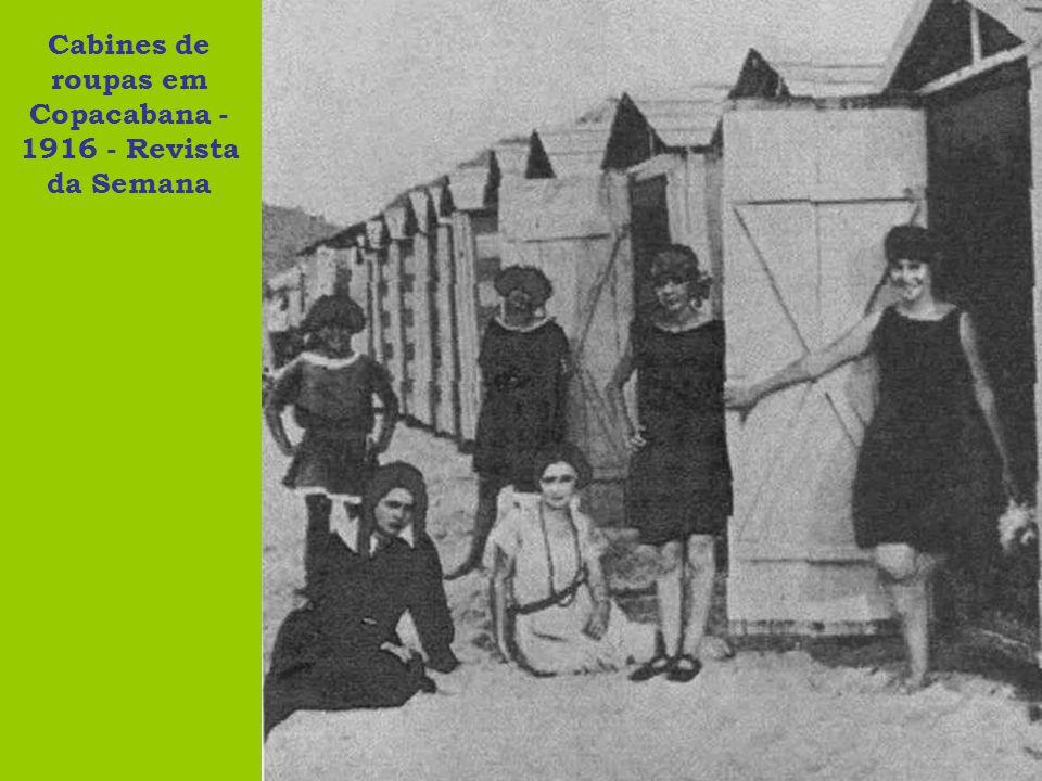 Cabines de roupas em Copacabana - 1916 - Revista da Semana