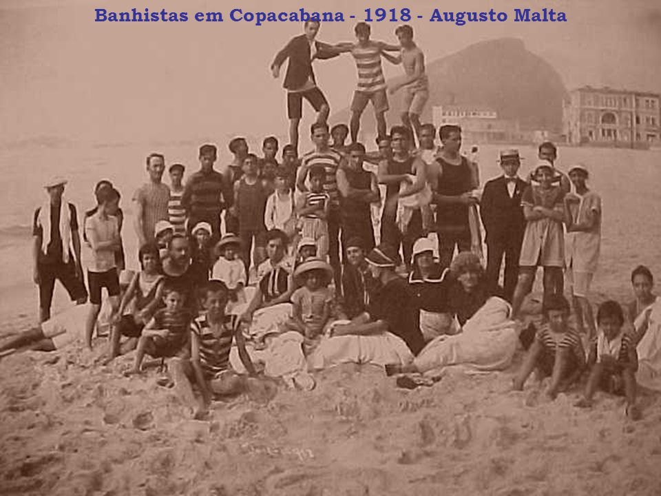Banhistas em Copacabana - 1918 - Augusto Malta