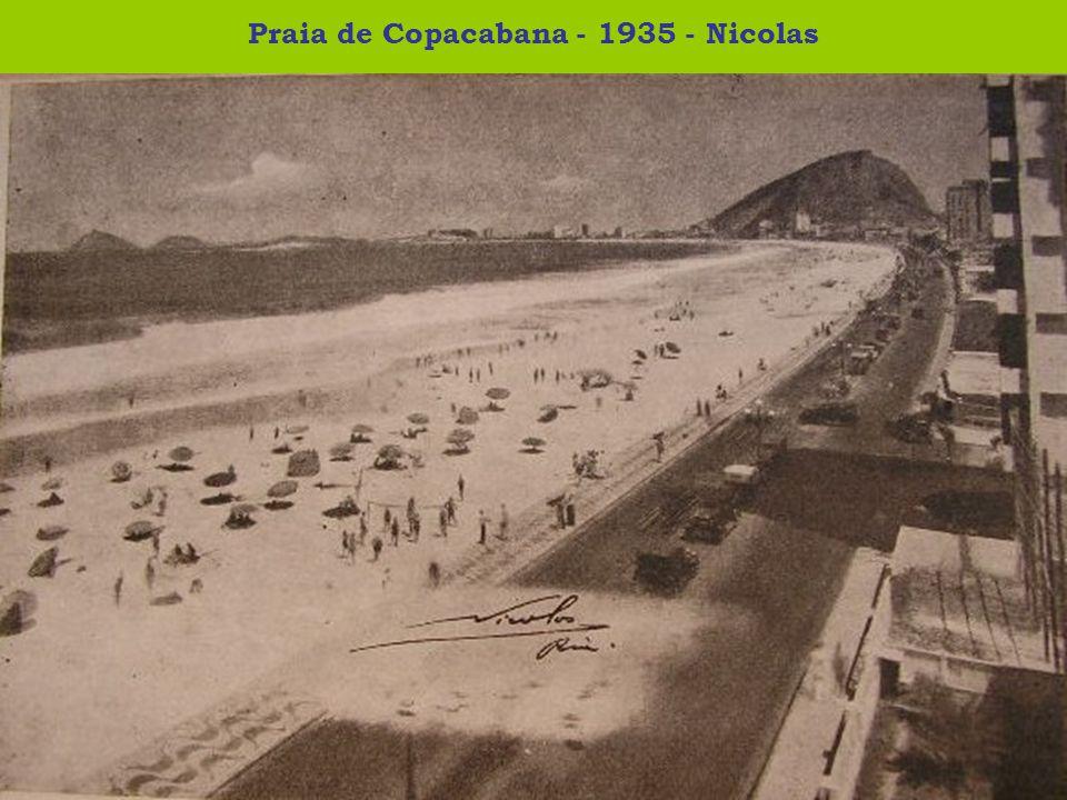 Praia de Copacabana - 1935 - Nicolas