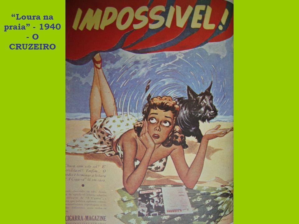 Loura na praia - 1940 - O CRUZEIRO