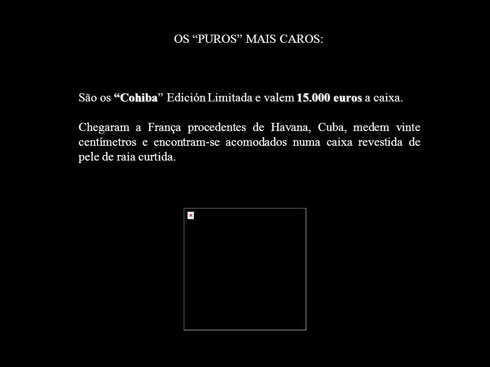 São os Cohiba Edición Limitada e valem 15.000 euros a caixa.