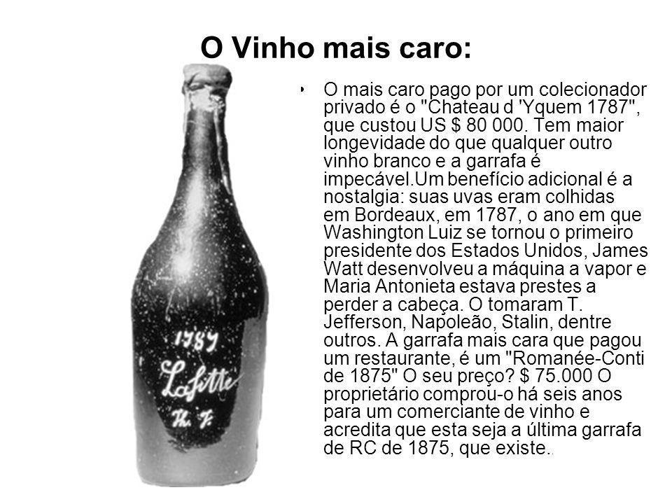 O Vinho mais caro: