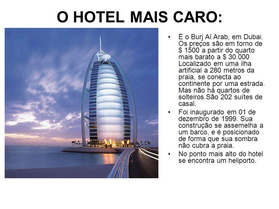 O HOTEL MAIS CARO: