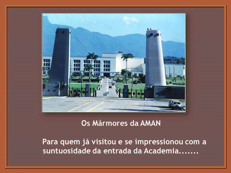 Os Mármores da AMAN Para quem já visitou e se impressionou com a suntuosidade da entrada da Academia.......