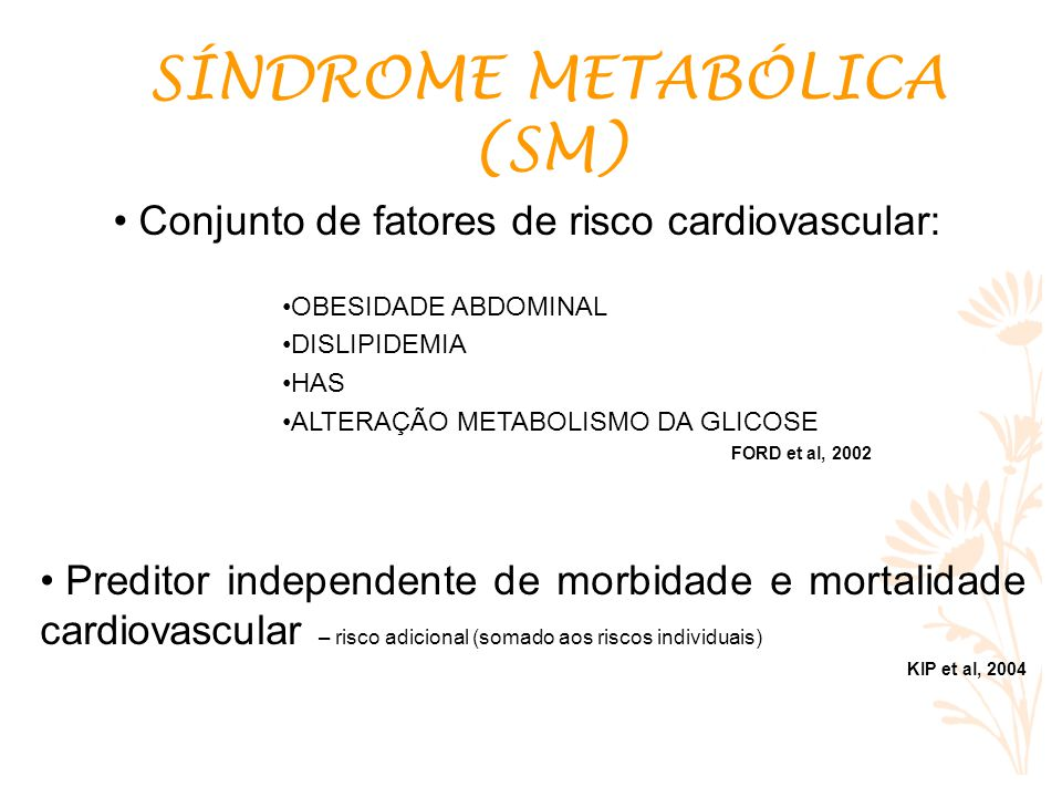 Conjunto de fatores de risco cardiovascular: