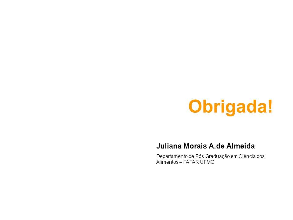 Obrigada! Juliana Morais A.de Almeida