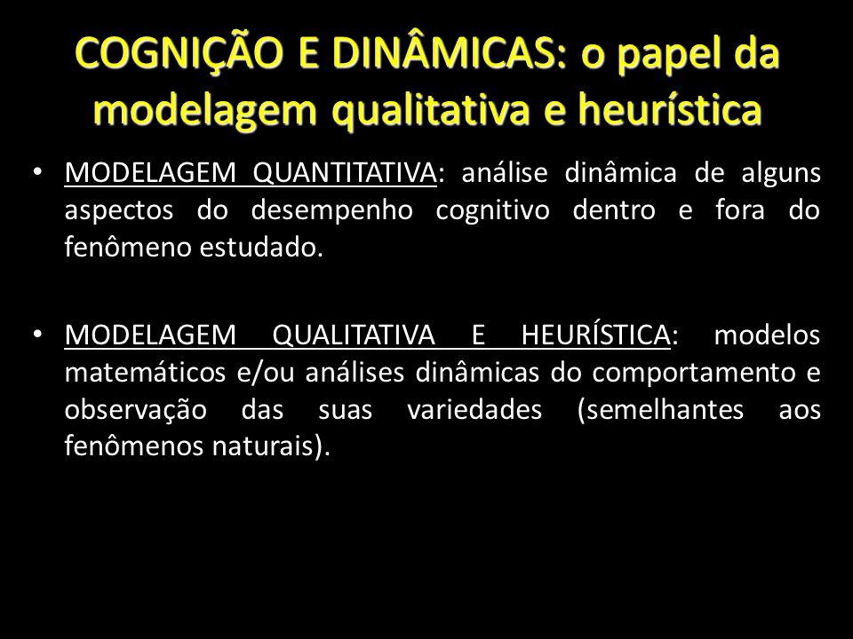 COGNIÇÃO E DINÂMICAS: o papel da modelagem qualitativa e heurística