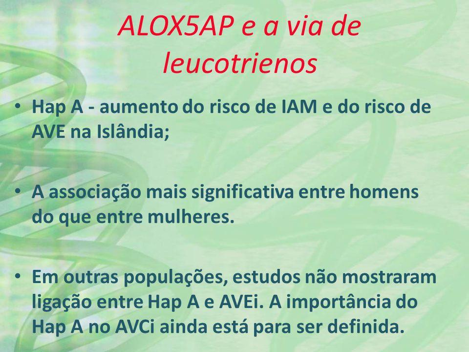 ALOX5AP e a via de leucotrienos