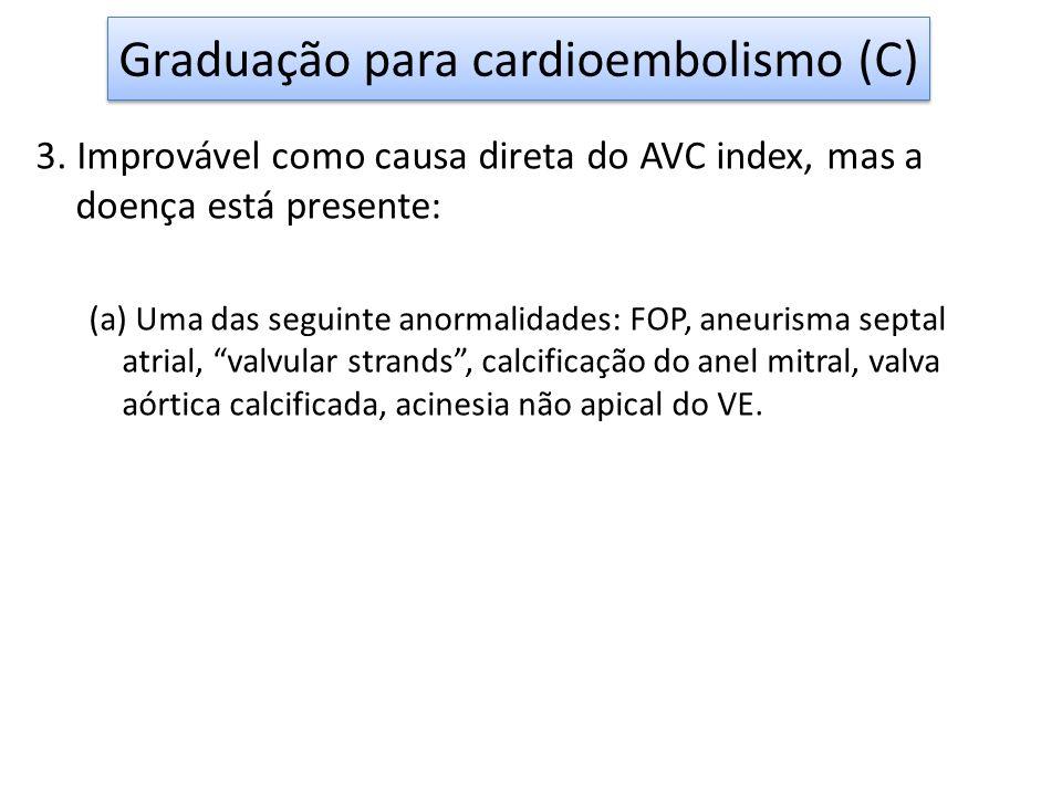 Graduação para cardioembolismo (C)