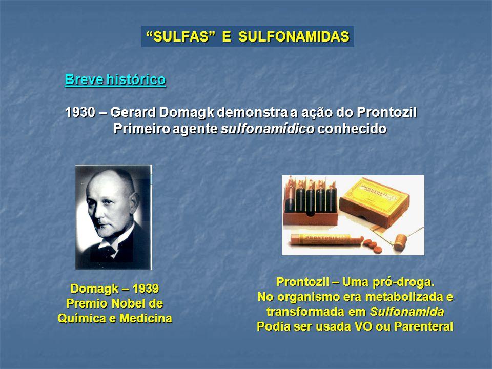 SULFAS E SULFONAMIDAS