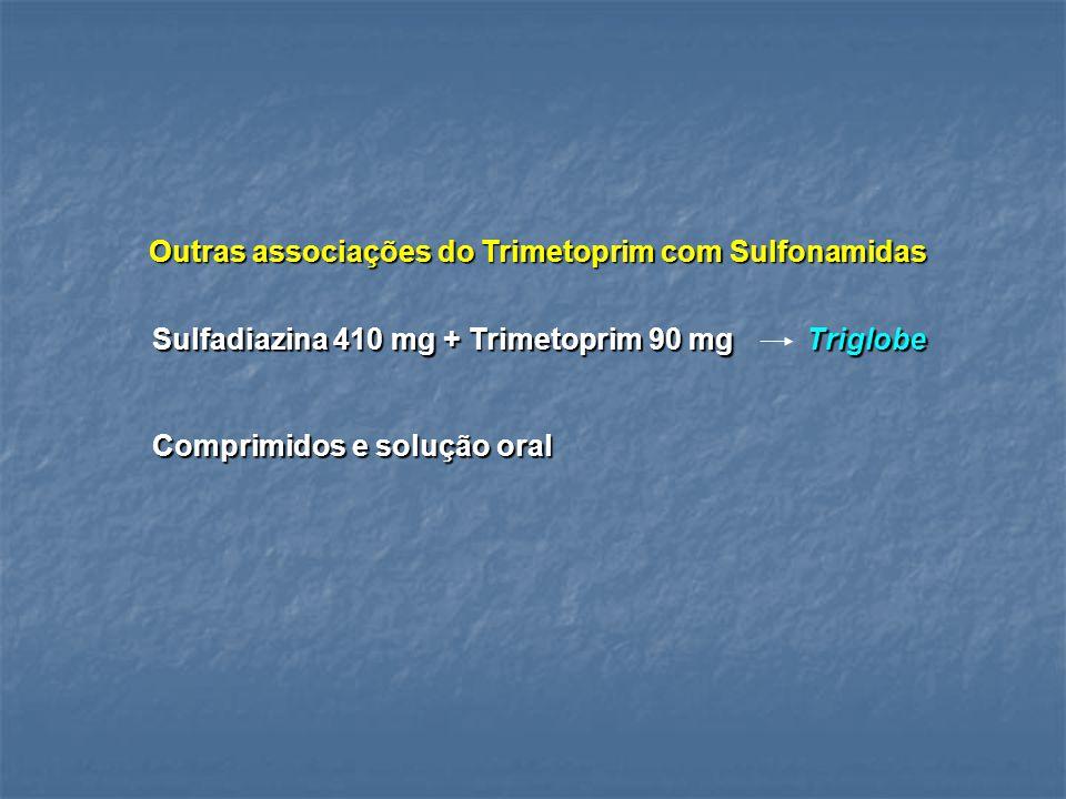 Outras associações do Trimetoprim com Sulfonamidas